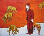 Man & 5 Dogs