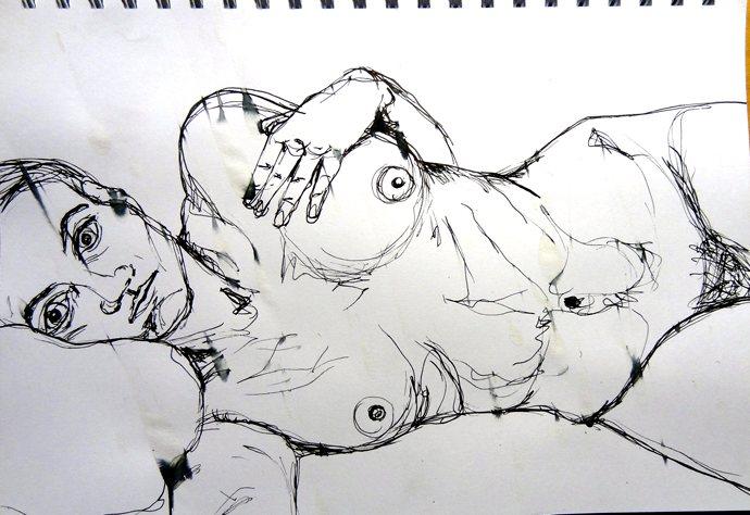 lying nude sketch