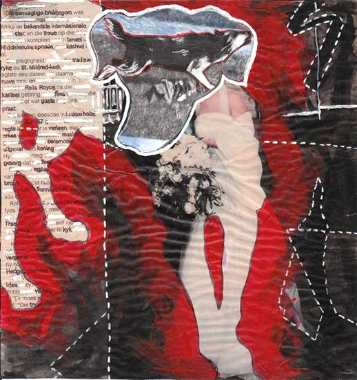 Hero Dogs 4 © Imke Rust 2003 Collage 20x19cm