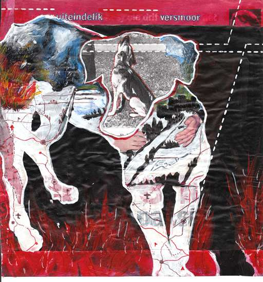 Hero Dogs 5 © Imke Rust 2003 Collage 20x19cm