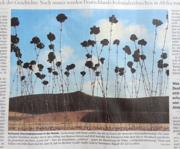 The German newspaper Der Tagesspiegel featured my artwork Subrosa (30th of June 2012, page 28)