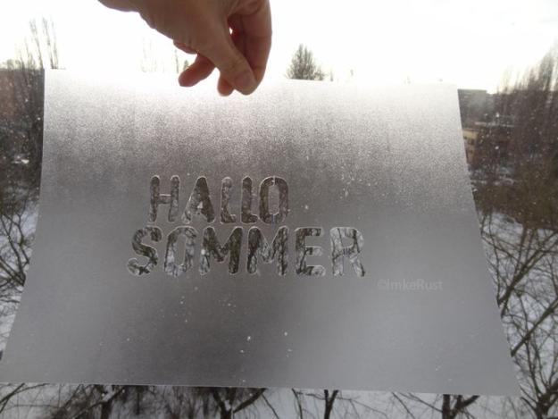Stencil - Hallo Sommer ©ImkeRust