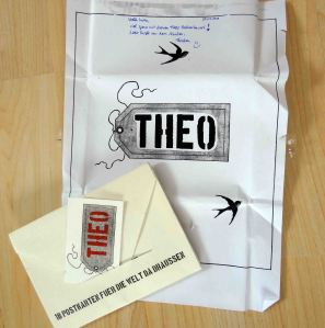 Beautifully packaged postcards by Theo