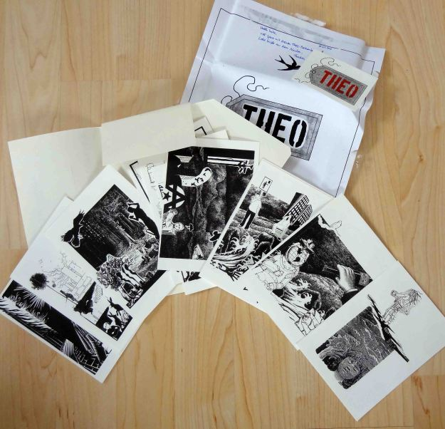 Postcards by Theo - old fashioned black & white collage style - very cool