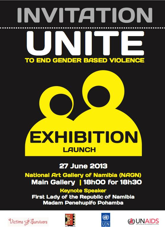 Unite to End Gender Based Violence Exhibition Poster