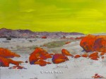 Toxic Valley 2 Hand-coloured photo of the Namib Desert Photo, Acrylic 15 x 20cm