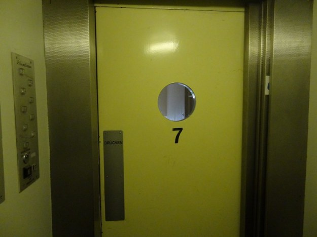 Inside view of our elevator, once you enter