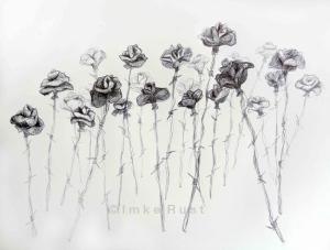 Sub Rosa Sketch Ballpoint pen sketch on paper 42 x 59cm