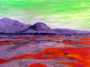 Toxic Waste Hand-coloured photo of the Namib Desert Photo, Acrylic 15 x 20cm