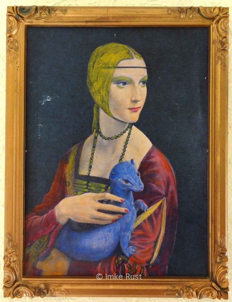The 'Portrait of a Lady with An Ermine by da Vinci in new colours