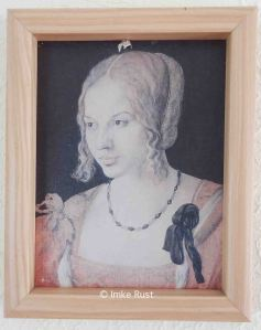 Before: Faded art print of 'Young Venetian Woman' by Dürer