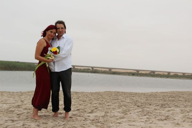 Happiness: Getting married to my love at the Atlantic coast.