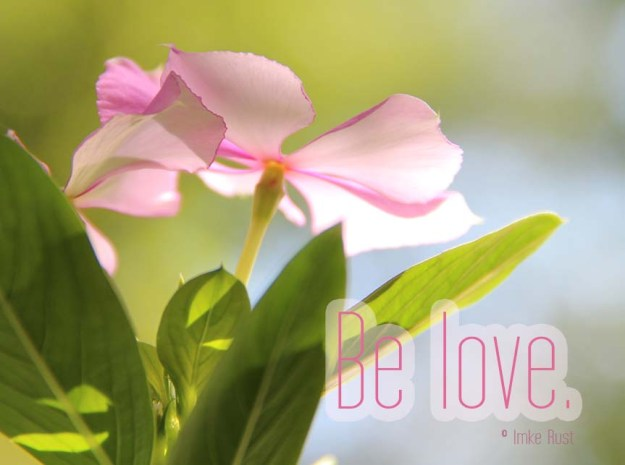 Be Love (Photograph & Text by Imke Rust)