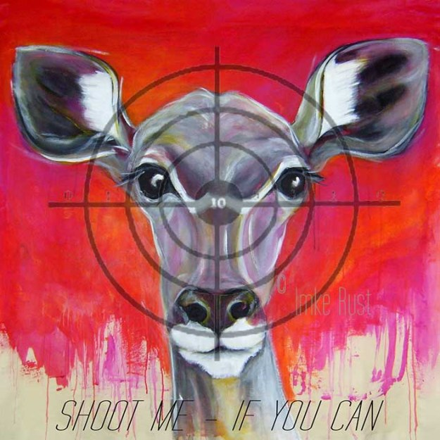 Shoot Me - If You Can (Digitally altered painting)