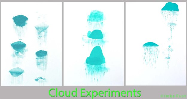 Cloud experiments by Imke Rust (Acrylic on Paper)