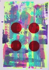 Untitled, Acrylic on acidfree paper 170g/m2 29,7 x21cm, © Imke Rust
