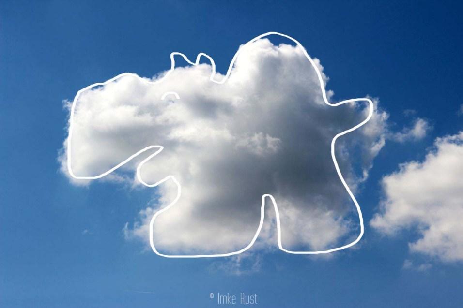 Cloud-Hippo, Digitally manipulated photograph, © Imke Rust