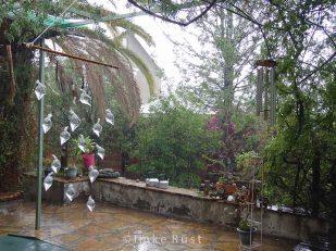 It is raining - view with rainmaker raindrops © Imke Rust