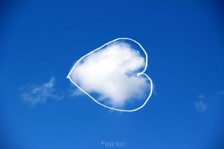 Cloud Heart, Digitally manipulated photograph, © Imke Rust