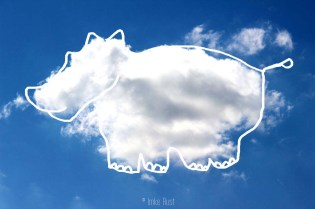 Cloud Large Hippo, Digitally manipulated photograph, © Imke Rust