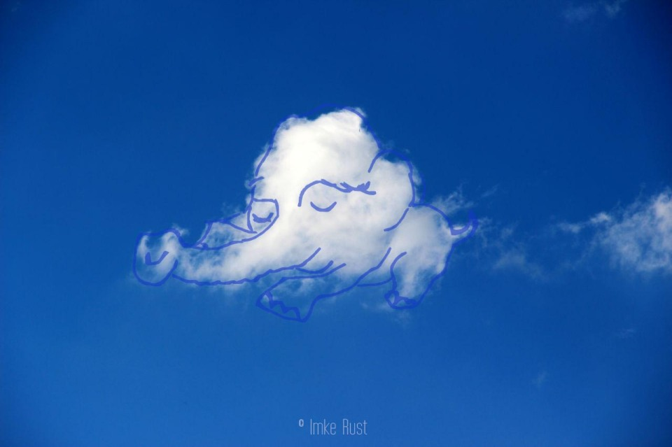 Cloud Sleeping Elephant, Digitally manipulated photograph, © Imke Rust