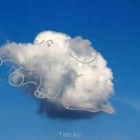 Cloud Sitting Elephant, Digitally manipulated photograph, © Imke Rust