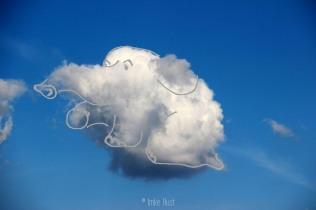 Cloud Sitting Elephant, Digitally manipulated photograph, © Imke Rust