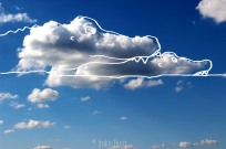Cloud Crocodiles, Digitally manipulated photograph, © Imke Rust