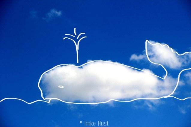 Cloud Whale, Digitally manipulated photograph, © Imke Rust
