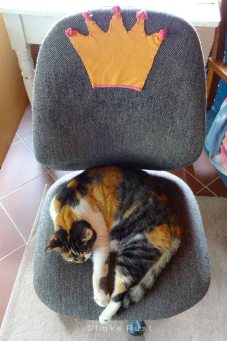 Princess Clarissa on her very own thrown.