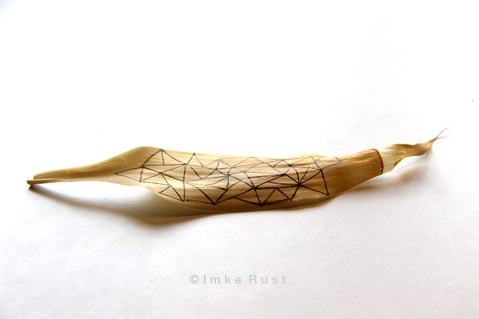 Lucky Bamboo Leaves drawn with felt pens