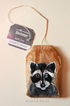 Teabag Totem Series (Raccoon)
