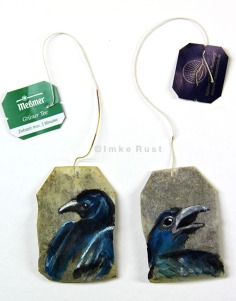 Teabag Totem Series (Crow)