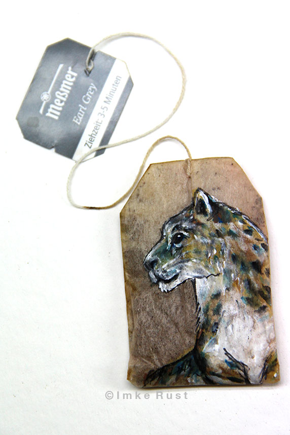 Teabag Totem Series (Snow Leopard)