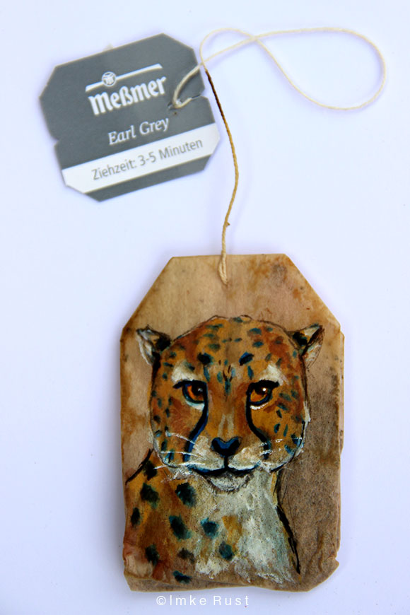 Teabag Totem Series (Cheetah)