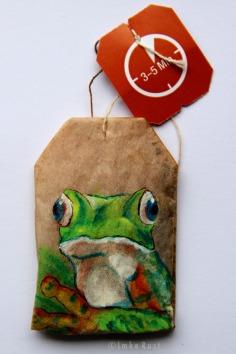 Teabag Totem Series- Frog SOLD