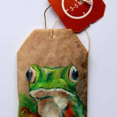 Teabag Totem Series- Frog SOLD