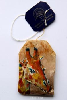 Teabag Totem Series- Giraffe SOLD