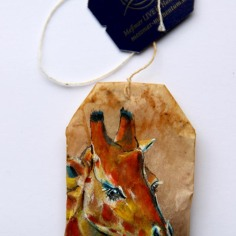 Teabag Totem Series- Giraffe SOLD
