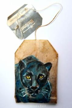 Teabag Totem Series (Panther) SOLD