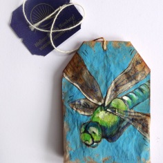 Dragonfly Teabag Totem (Sold)
