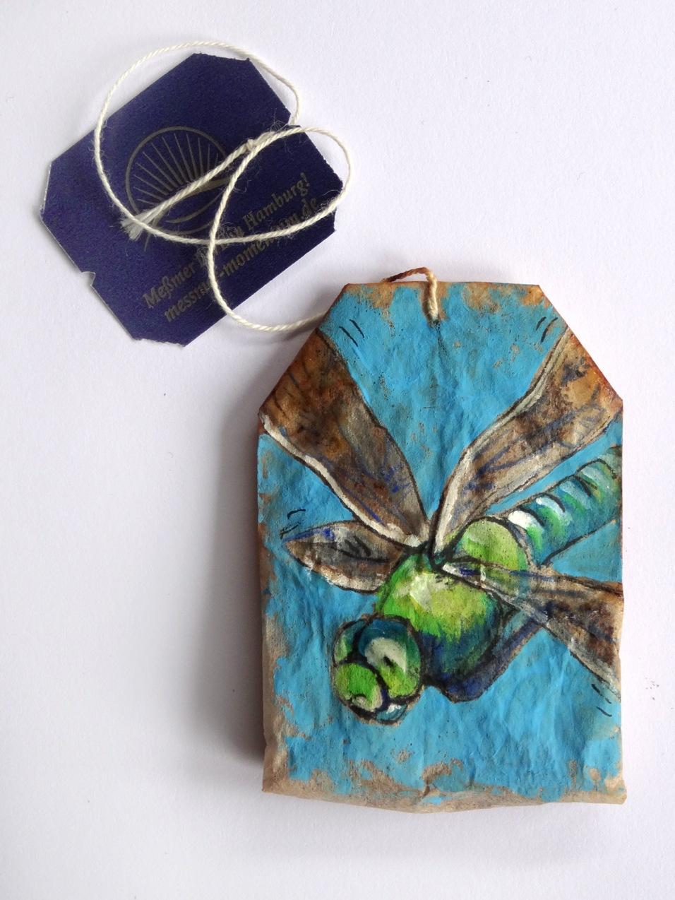 Dragonfly Teabag Totem (Sold)