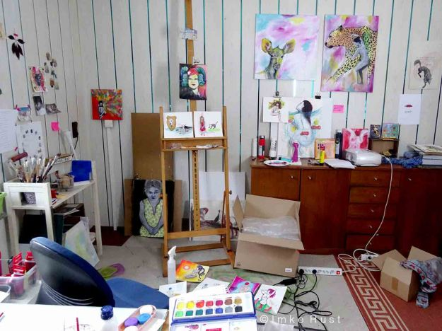 View of my working space and creative mess...