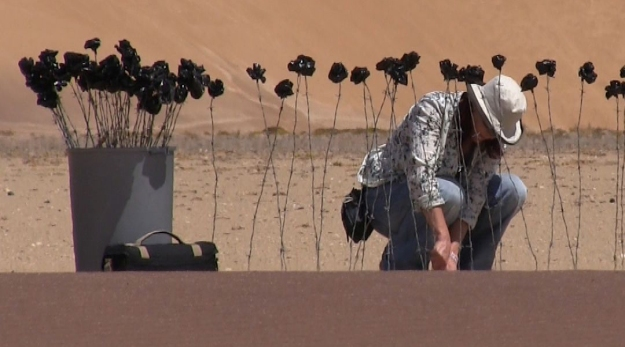 Imke Rust in der Namib Wüste