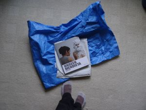 Several weeks after placing the order the book arrived by snail-mail in a blue postal bag. I was so excited!