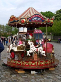 Finding Zebras on a carousel in Germany, after I unwittingly painted something similar...