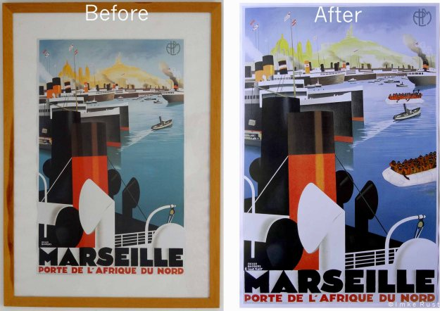 Before and After Marseille Porte de l'Afrique du Nord with refugees added.
