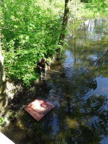 Uta fishing in the lake