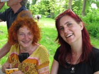 Mirijam and me at the presentations