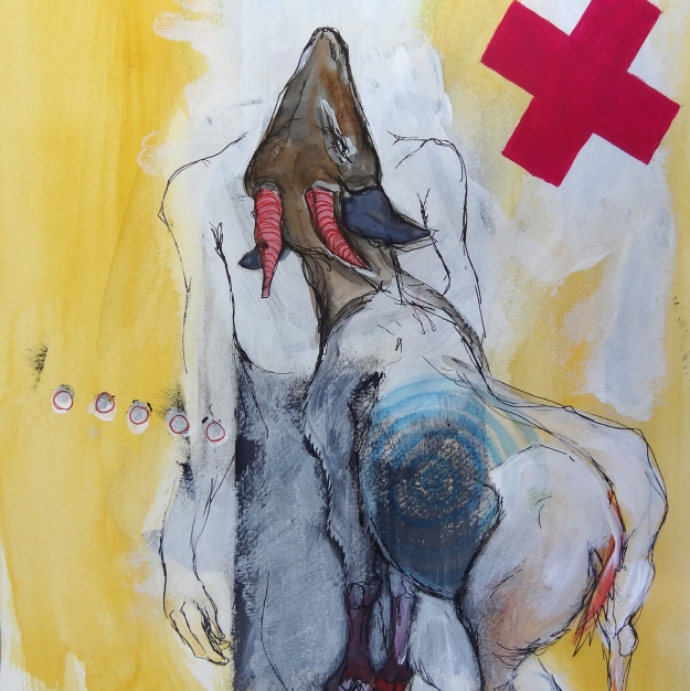 Untitled mixed media work by Imke Rust